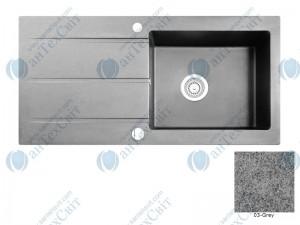 Гранитная мойка MARMORIN Bario 120113003 grey