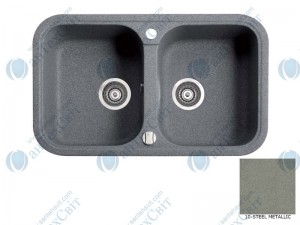 Гранитная мойка MARMORIN Pesta 170203010 steel metalic