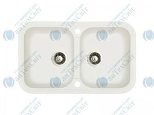 Гранитная мойка MARMORIN Pesta 170203016 white alabaster