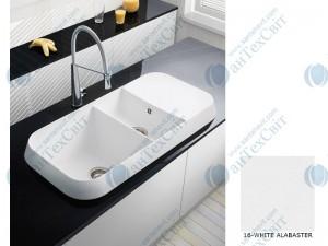 Гранитная мойка MARMORIN Opal 440513016 white alabaster