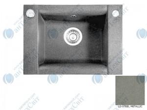 Гранитная мойка MARMORIN Voga 110103010 steel metalic