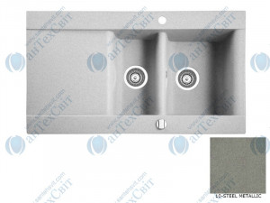 Гранитная мойка MARMORIN Voga 110513010 steel metalic
