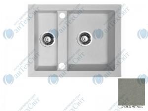 Гранитная мойка MARMORIN Cire 375503010 steel metalic