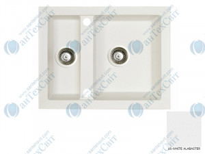 Гранитная мойка MARMORIN Cire 375503016 white alabaster
