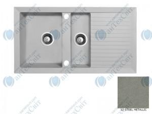 Гранитная мойка MARMORIN Cire 375513010 steel metalic
