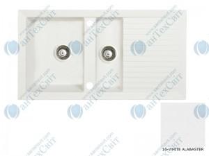 Гранитная мойка MARMORIN Cire 375513016 white alabaster