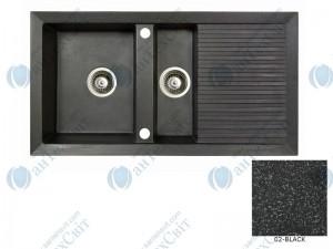 Гранитная мойка MARMORIN Cire 375513002 black