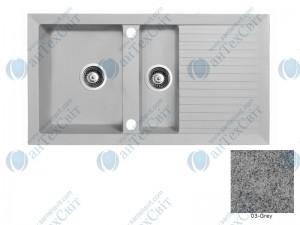 Гранитная мойка MARMORIN Cire 375513003 grey