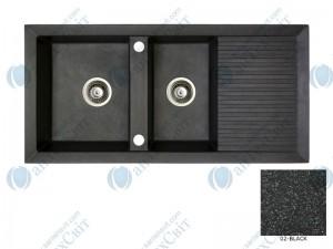 Гранитная мойка MARMORIN Cire 375213002 black