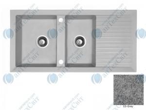 Гранитная мойка MARMORIN Cire 375213003 grey