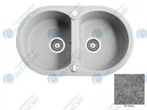 Гранитная мойка MARMORIN Duro 130203003 grey