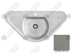 Гранитная мойка MARMORIN Duro 130743010 steel metalic