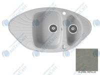 Гранитная мойка MARMORIN Oren 180613010 steel metalic