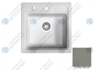 Гранитная мойка MARMORIN Tama 390103010 steel metalic