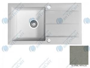 Гранитная мойка MARMORIN Tama 390113010 steel metalic