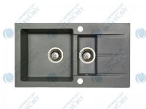 Гранитная мойка MARMORIN Tama 390513010 steel metalic