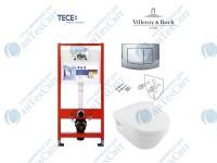 Инсталляция TECE base kit 4в1 (9400005)+унитаз Villeroy&Boch Omnia Architectura (5684HR01) Direct flush c сиденьем slow-closing