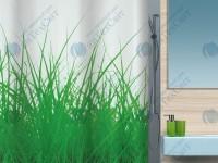Шторка для ванной текстильная SPIRELLA  Grass 200х180 (10.16404)