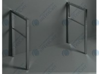 Пара стоек для консоли /раковины FZ10/U60 - FZ11/U90 - FZ12 - U120 SIMAS Frozen (FZ/DUCG1)