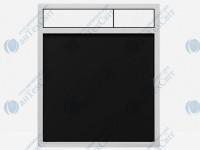 Клавиша SANIT 16.734.00.0059 стекло черное/матовый хром