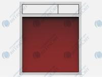 Клавиша SANIT 16.734.00.0026 стекло красное/белый