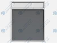Клавиша SANIT 16.734.00.0041  стекло антрацитовое/матовый хром