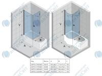 Шторка для ванной RIHO Nautic N110/3000 90*75 (GHT0121650600)