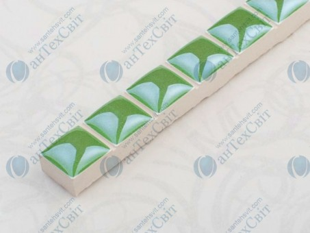 Фриз CEROSSA CERAMICA Бусинка 1,3*25 зеленая люстрированная