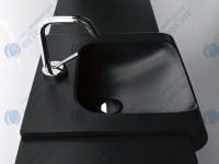 Умывальник KERASAN Inka Project 60 (341131) черный матовый