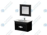 Коплект мебели BOTTICELLI Treviso 100 black (Т-100 black + ТМ-80)