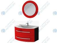 Коплект мебели BOTTICELLI Vanessa 90 red (Vn-90 red + VnМ red)