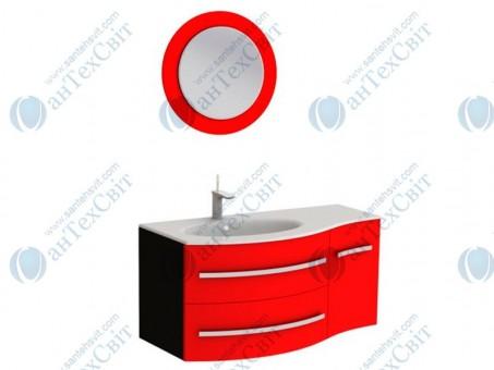 Коплект мебели BOTTICELLI Vanessa 110 red левый (Vndl red + VnМ red)