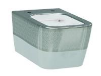 Чаша подвесного унитаза IDEVIT Halley Iderimless (3204-2616-1201) белый/декор серебро